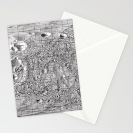 Map of Phobos, Moon of Mars Stationery Cards