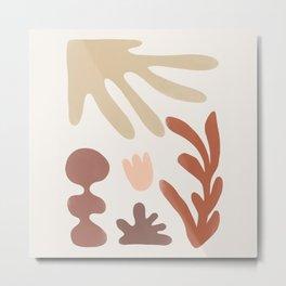 Autumn Garden Harmony Terra Metal Print