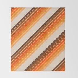 Tan Candy Stripe Throw Blanket