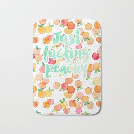 Just Fucking Peachy Bath Mat