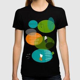 Mid-Century Modern Atomic Ovals T-shirt
