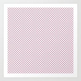 Orchid Smoke Polka Dots Art Print