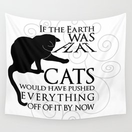 Cats on the Flat Earth Wall Tapestry