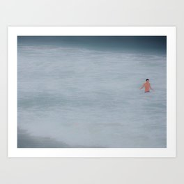 The Ocean and I Art Print