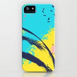 Yellow contrast splash iPhone Case