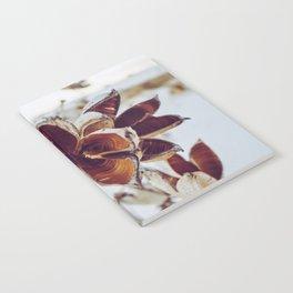 White Orange Flower Notebook