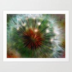 Dandelion Eye Art Print