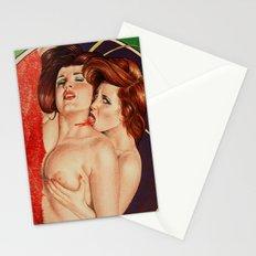 Erotic vampires Stationery Cards