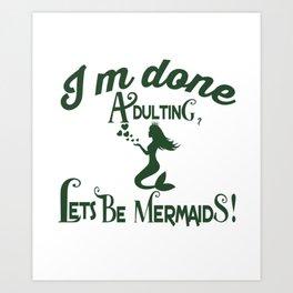 Mermaid Squad (2) Art Print
