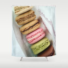 Macarons Shower Curtain