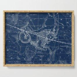 Capricorn sky star map Serving Tray