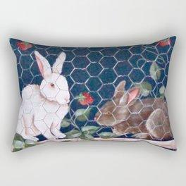 Bunnies in a Cage Rectangular Pillow