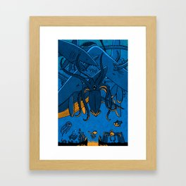 Falling (Deep Sea) Framed Art Print