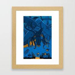 Falling (Deep Sea) Framed Art Print