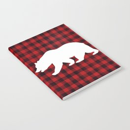 Red Plaid Bear Notebook