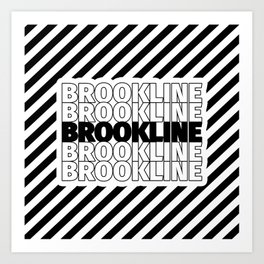 Brookline USA CITY Funny Gifts Art Print