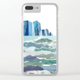 Sea of Ice Clear iPhone Case