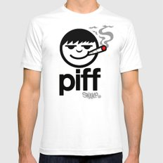 p i f f  Mens Fitted Tee SMALL White