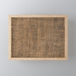 Burlap Grid Framed Mini Art Print