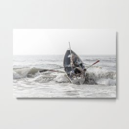 Get In The Boat! Metal Print