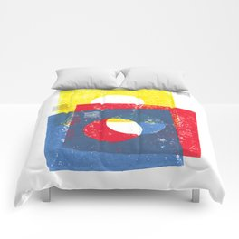Basic in red, yellow and blue Comforters