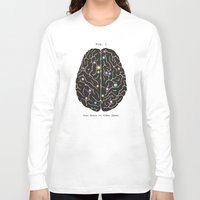 games Long Sleeve T-shirts featuring Your Brain On Video Games by Terry Fan