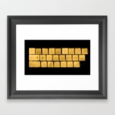 The WEALTHY Keyboard Framed Art Print
