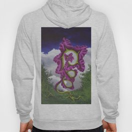 Purple Poppy Flower Hoody