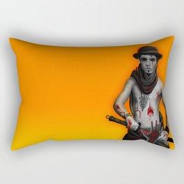Killer on the Loose Rectangular Pillow