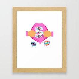 Super Kids 5th Birthday Girl Framed Art Print
