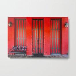 Sacramento Red Door Metal Print