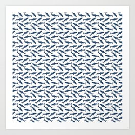 Whale Shark Pattern Art Print