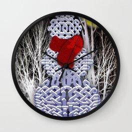Celtic Knot Snowman Wall Clock