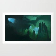 La mano Art Print