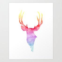Neonimals: Deer Art Print