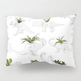 Dino and Cacti on White Pillow Sham