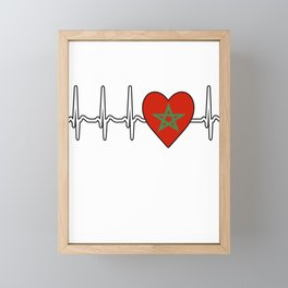 Morocco heartbeat Framed Mini Art Print