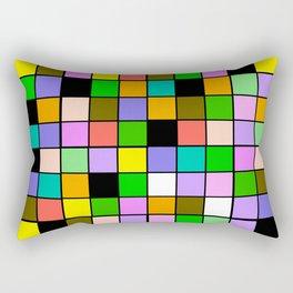 Checker Board Square Pattern Rectangular Pillow