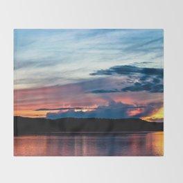 La Conner Sunset Throw Blanket