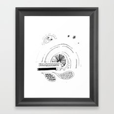 HA HA HA Framed Art Print