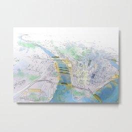 Pittsburgh Aerial Metal Print