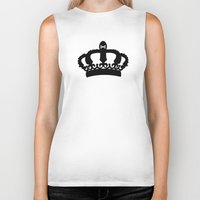 crown Biker Tanks featuring Crown by Concept Phi