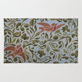 Bird & leaves Rug