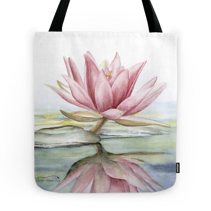 Lotus Tote Bag by thaisborribas