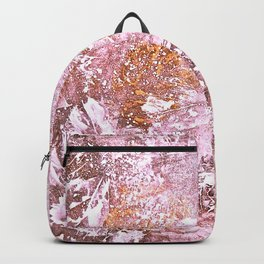 Abstract Autumn In Gold-Rosé Backpack