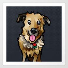 Cody (Blue) Art Print