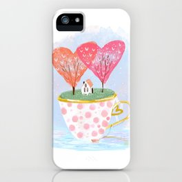 Island in a cup- Valentine edition iPhone Case