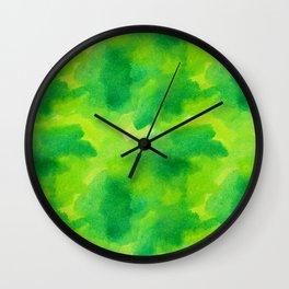 Watercolour greened Wall Clock