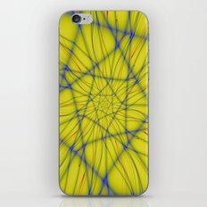 Spiral on Yellow iPhone & iPod Skin