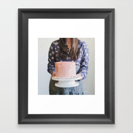 For Your Birthday, I Baked You a Cake. Framed Art Print